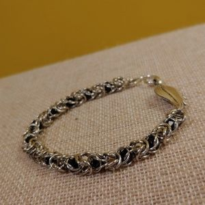 Handcrafted Caged Crystal Box Chain Bracelet